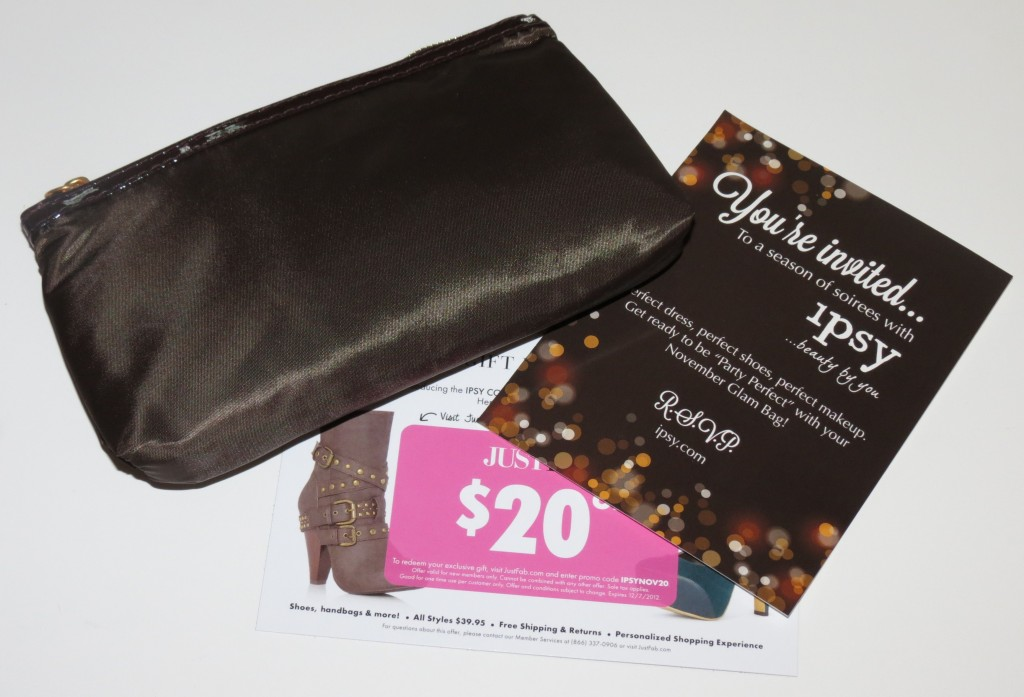 November 2012 ipsy (My Glam?) Glam Bag Review & Swatches
