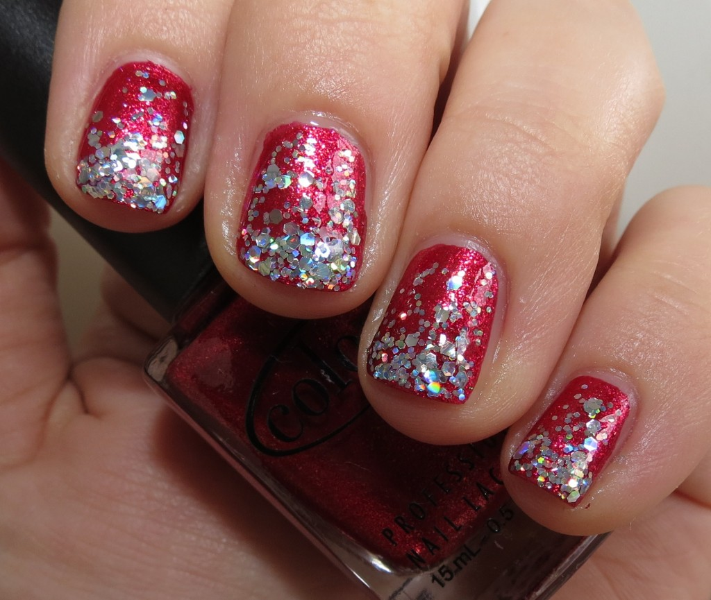 Holiday Nail Fun with Color Club Berry and Bright & Finger Paints Santa's Magic Nail Polish Swatches & Review