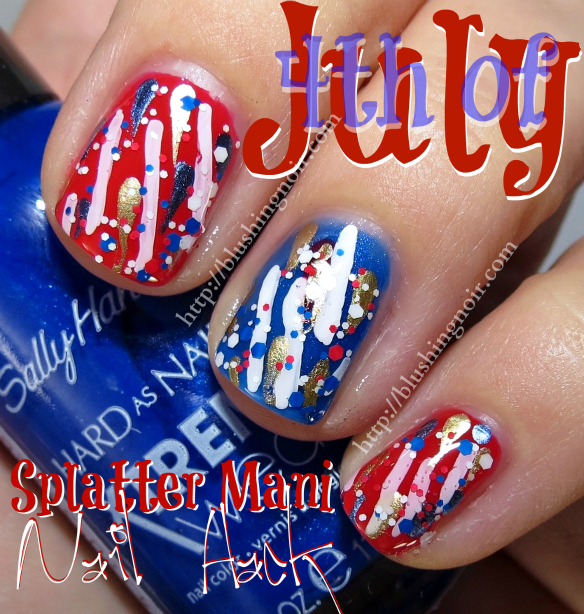 4th of July Nail Art Splatter Mani Nail Hack #MySummerLook #CollectiveBias