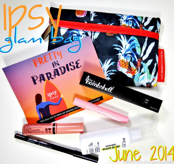 ipsy glam bag June 2014 review swatches