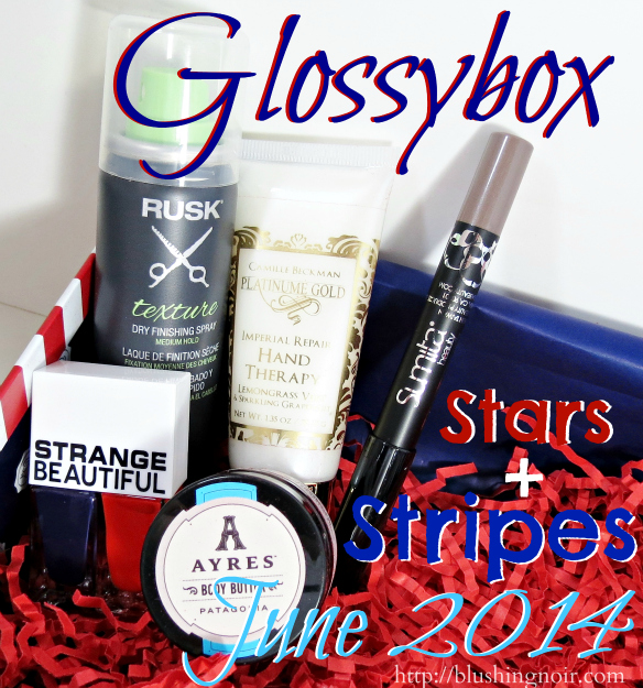 June 2014 Glossybox Swatches Review