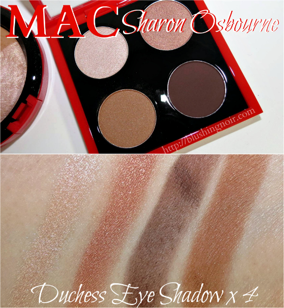 MAC Duchess Eye Shadow x 4 Swatches