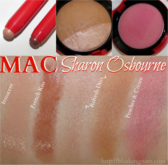MAC Sharon Osbourne swatches
