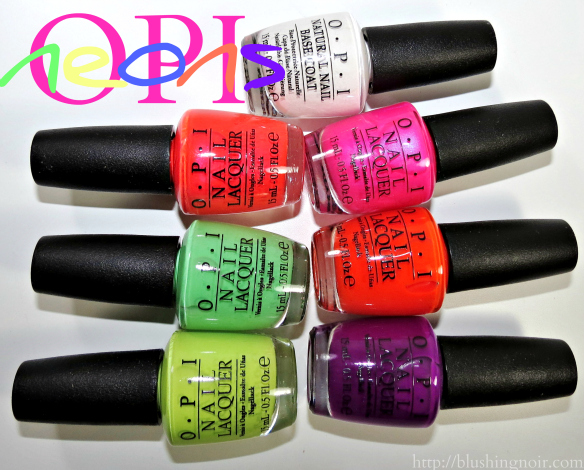 Neons by OPI Nail Polish Collection Swatches Review