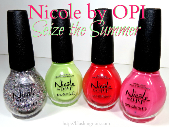 Nicole by OPI Seize the Summer Nail Polish Swatches + Nail Art