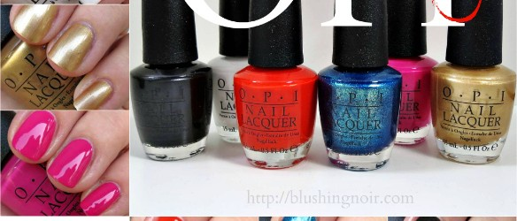 OPI Ford Mustang Nail Polish Swatches Review