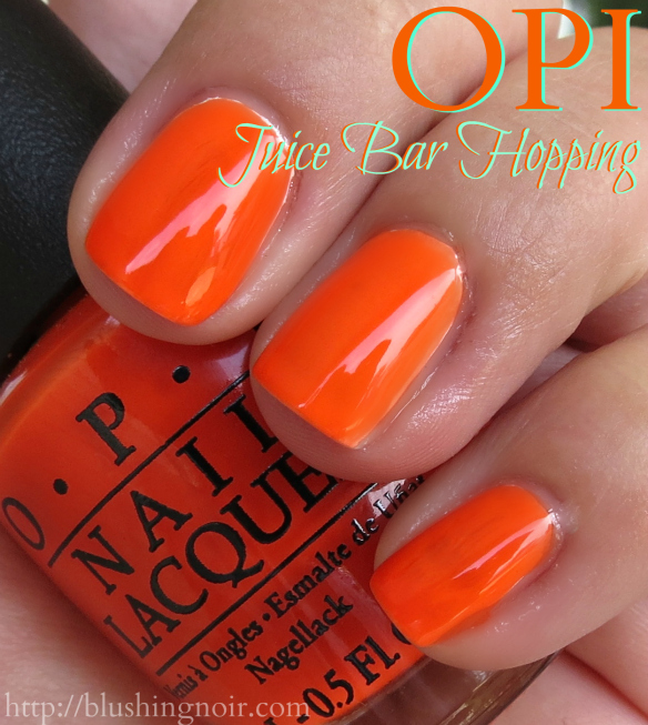 OPI Juice Bar Hopping Nail Polish Swatches