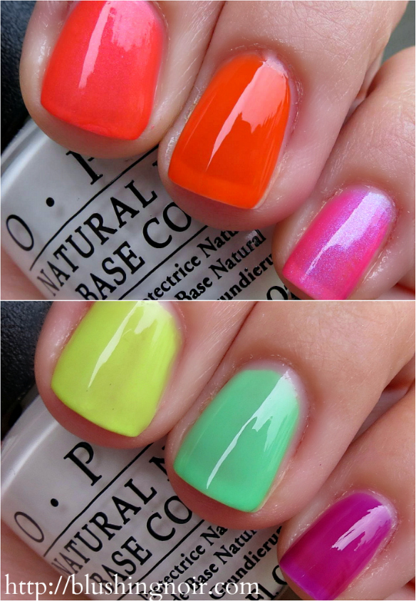 OPI Neon Collection no base