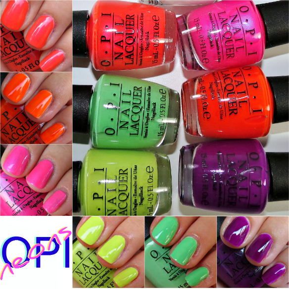 OPI Neons Collection Swatches Review Photos