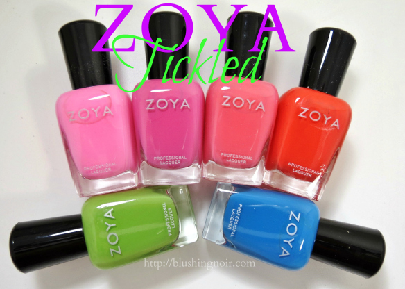 Zoya Tickled Nail Polish Collection Swatches Review
