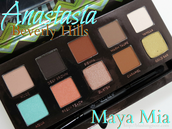 Anastasia Maya Mia Palette Swatches, Review + Eye Looks