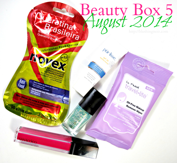 August 2014 Beauty Box 5 review