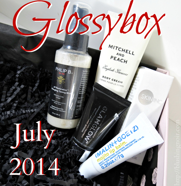 Glossybox July 2014 swatches review photos