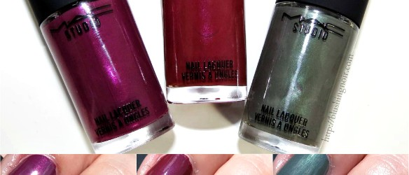 MAC A Novel Romance Nail Polish Swatches Review collage