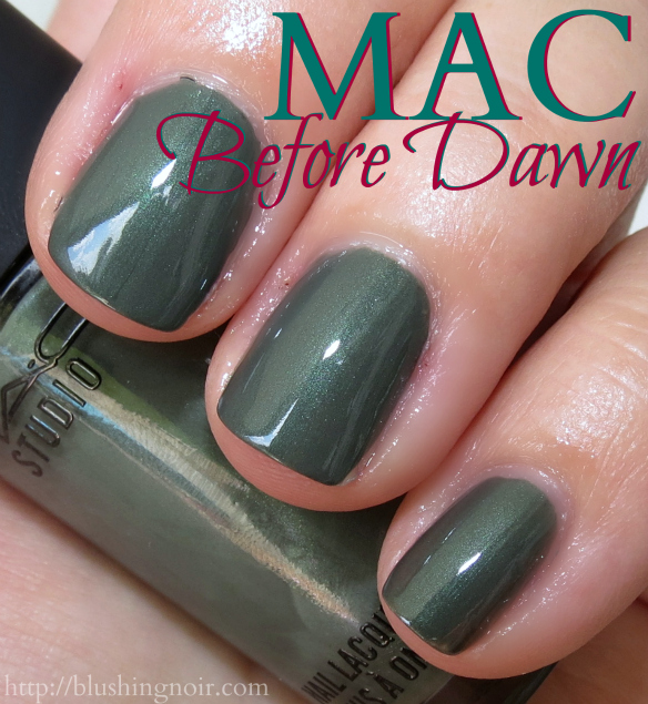 MAC Before Dawn Nail Polish Swatches flash
