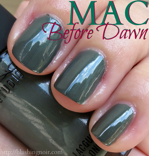MAC Before Dawn Nail Polish Swatches shade