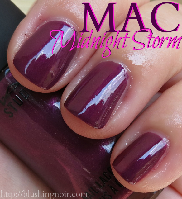 MAC Midnight Storm Nail Polish Swatches shade