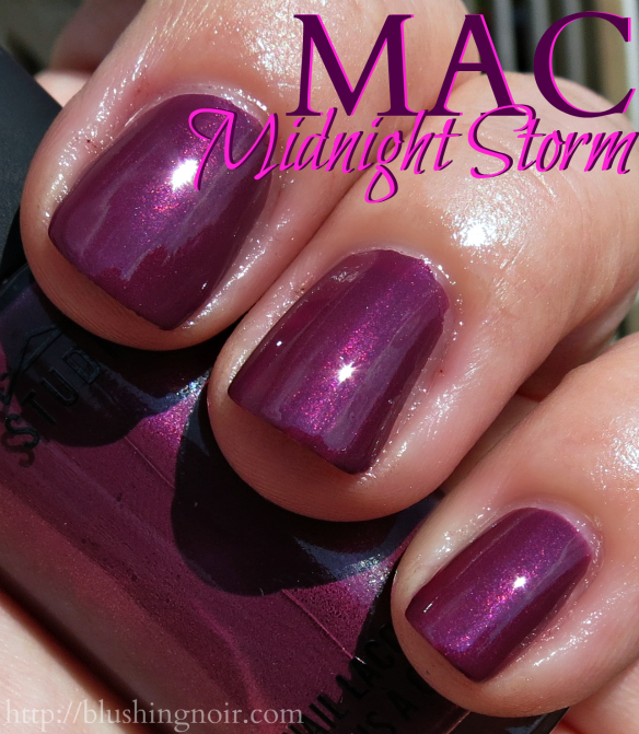 MAC Midnight Storm Nail Polish Swatches sun