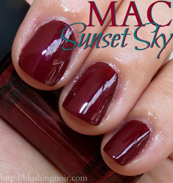 MAC Sunset Sky Nail Polish Swatches flash