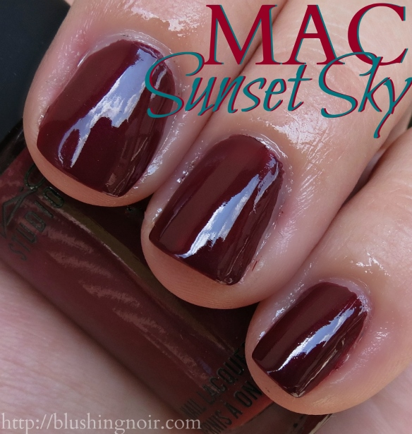 MAC Sunset Sky Nail Polish Swatches shade