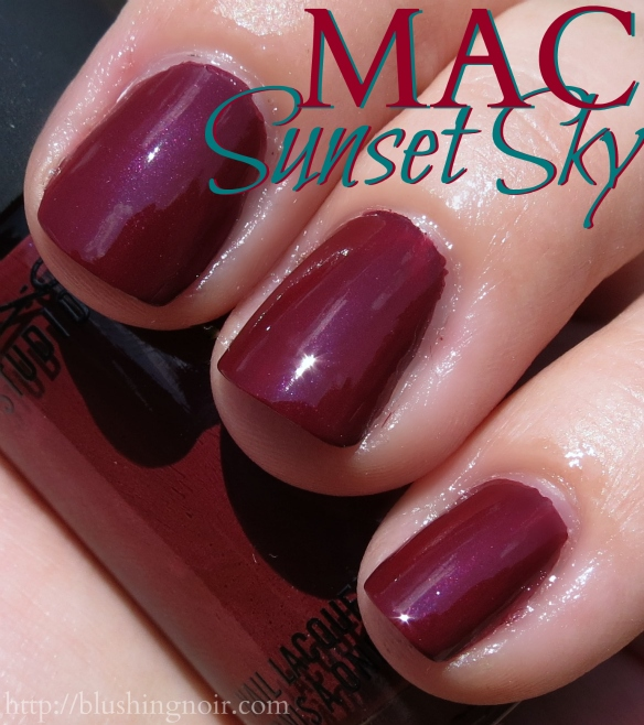 MAC Sunset Sky Nail Polish swatches sun