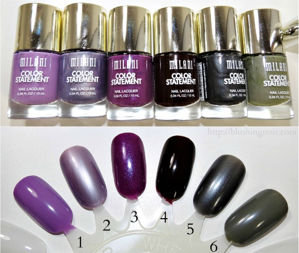 Milani Color Statement Nail Lacquer Swatches 5