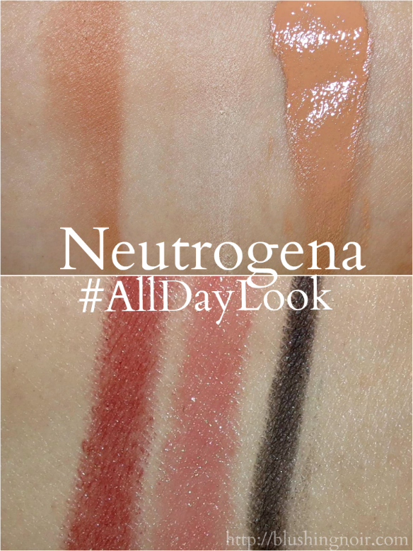 Neutrogena makeup swatches #CollectiveBias #AllDayLook #shop