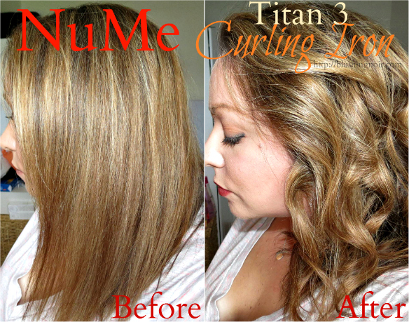 NuMe Titan 3 Curling Iron Before After