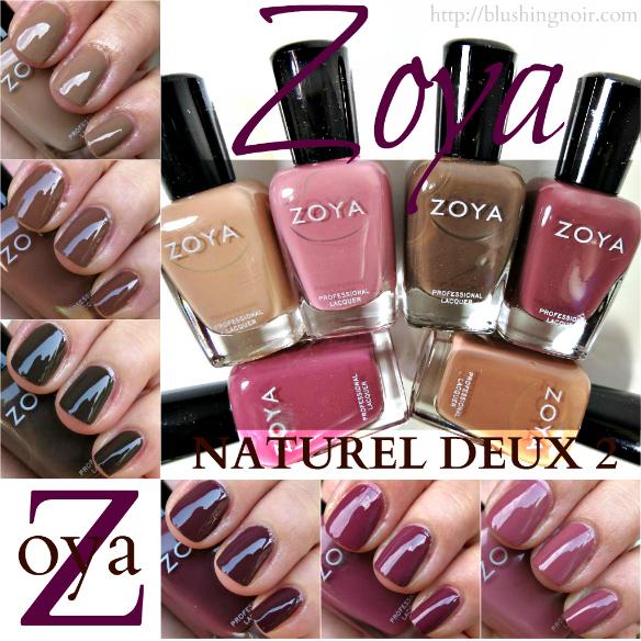 Zoya NATUREL DEUX 2 Nail Polish Swatches Review Photos