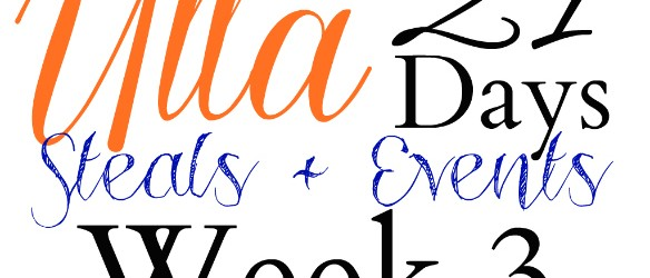 Ulta 21 Days of Beauty Steals and Events List 3