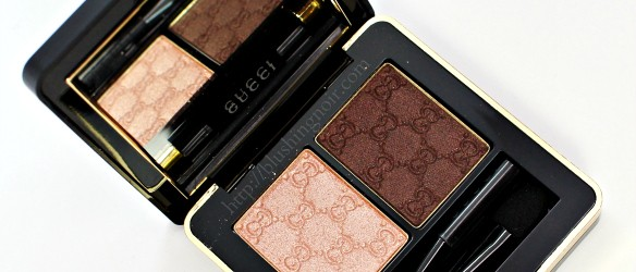 Gucci Amaretto Eyeshadow Swatches Review