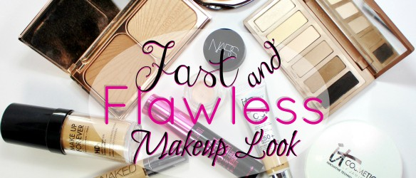 fast flawless makeup look