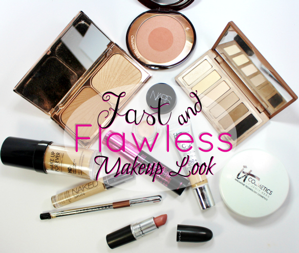 fast flawless makeup look