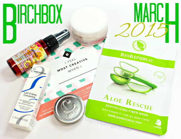 March 2015 birchbox swatches review