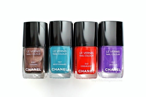 Chanel Collection Mediterranee Le Vernis Nail Colour Swatches + Review // Summer 2015