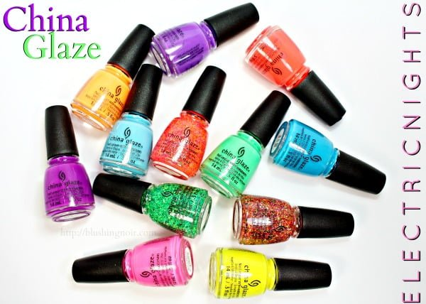 China Glaze Electric Nights Neon Collection Nail Polish Swatches + Review