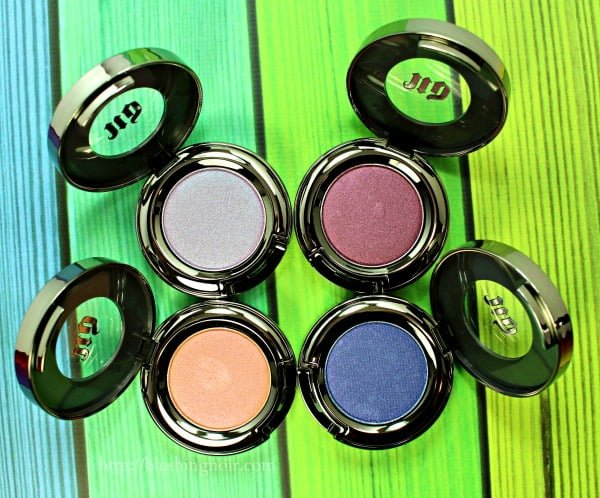 Urban Decay Eyeshadows Summer 2015 swatches