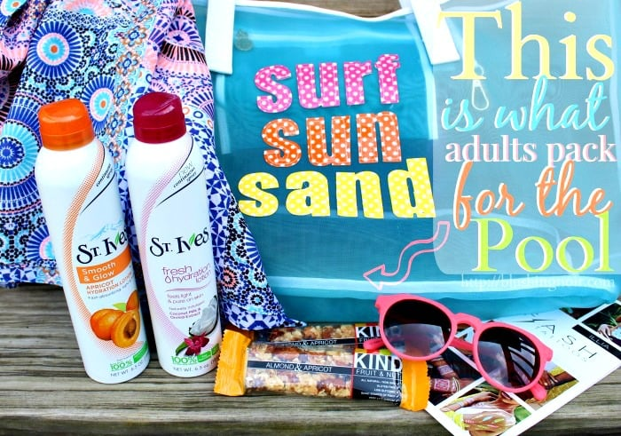 What Adults Pack for the Pool Summer #LiveRadiantly