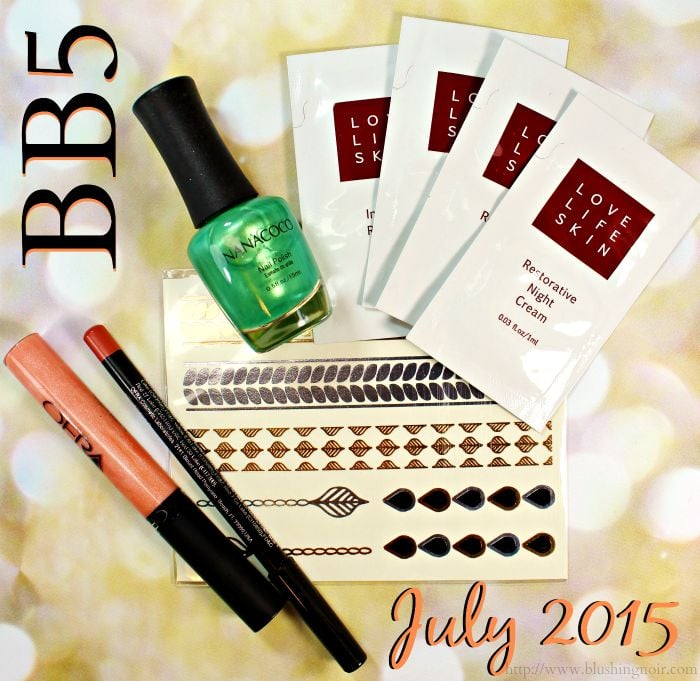 Beauty Box 5 Subscription Review July 2015