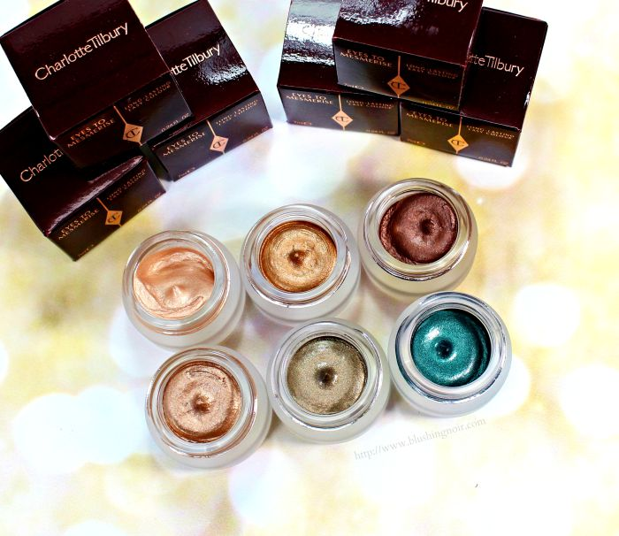Charlotte Tilbury Eyes to Mesmerise Cream Eyeshadow Swatches Review