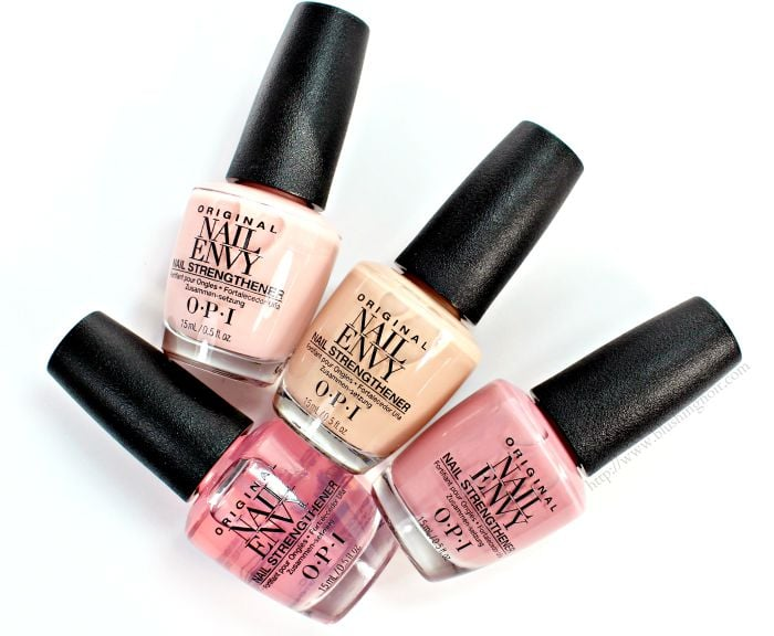 OPI Nail Envy Colors Nail Polish Collection Swatches + Review