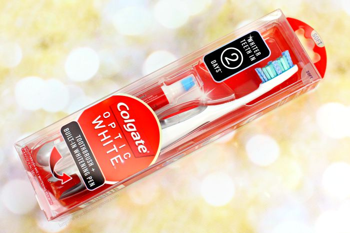 Colgate® Optic White® Toothbrush + Whitening Pen Review + Giveaway!