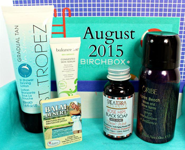 August 2015 Birchbox Swatches, Review & Photos