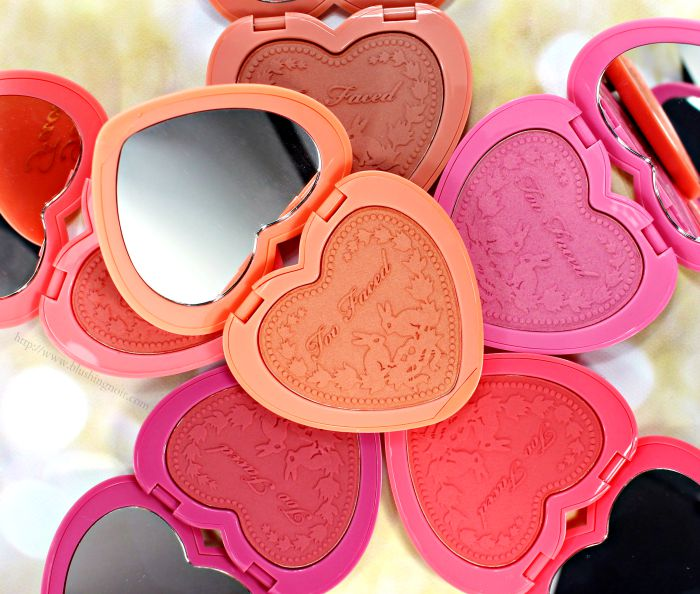 Too Faced Love Flush Long-Lasting Blush Swatches + Review