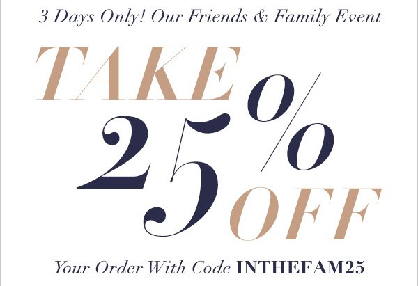 SHOPBOP Friends & Family Sale Info!