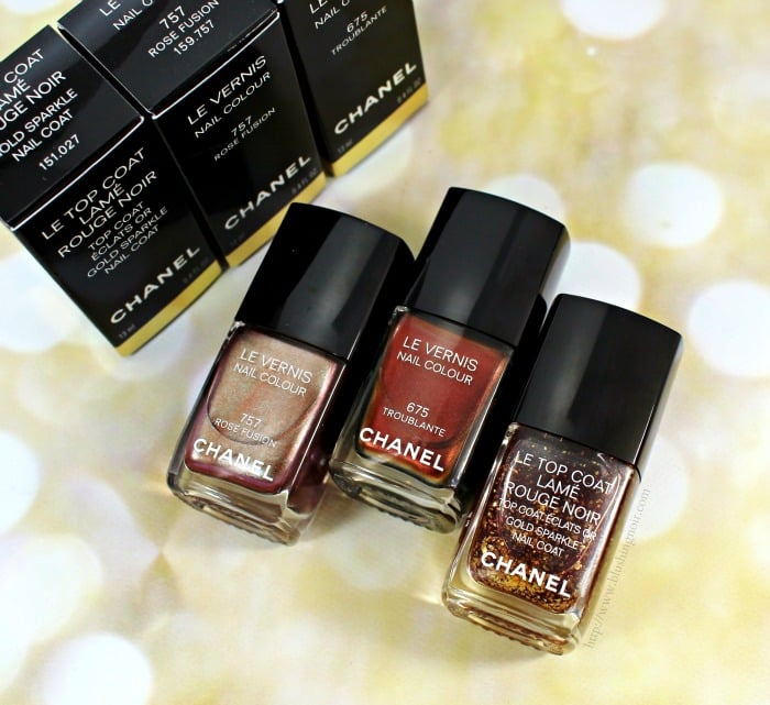 Chanel Holiday 2015 Le Vernis Nail Polish Swatches