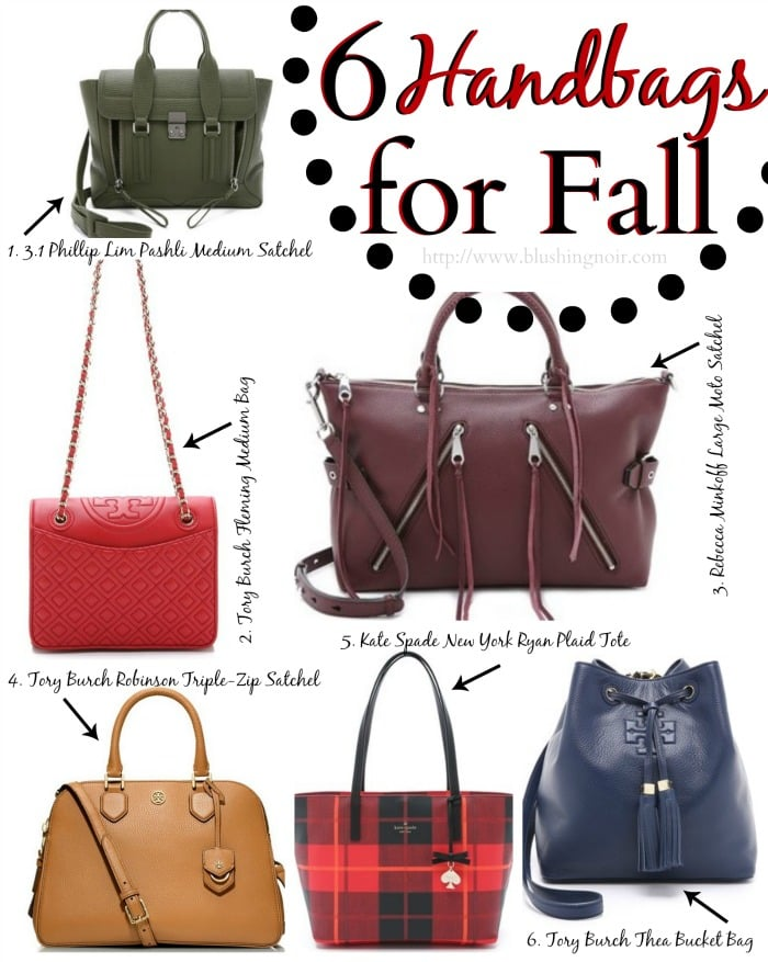Top 6 Fall Handbags // National Handbag Day